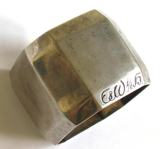 серебряное салфеточное кольцо