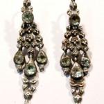 серебряные серьги старинные с аквамаринами 19 век интернет аукцион антиквариат