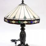 старинная винтажная настольная лампа стиль Тифани Tiffany