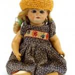 старинная испанская кукла голова фарфоровая корпус из композита 35 см