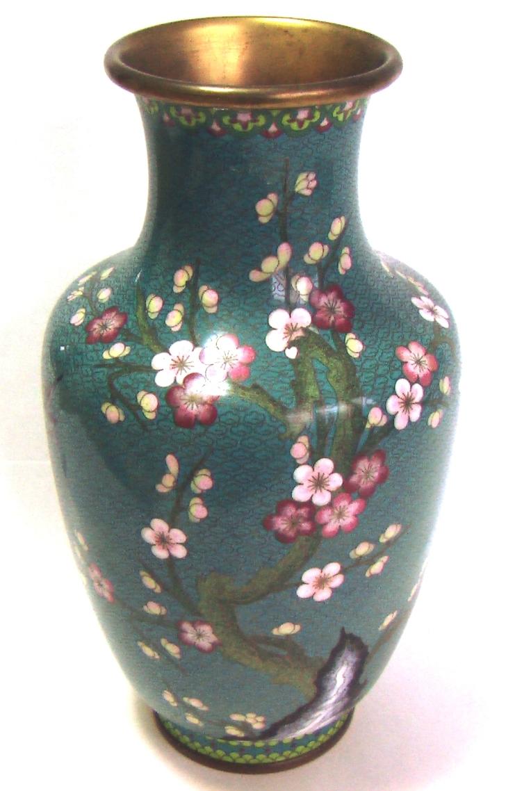старинная китайская ваза большая эмали клуазоне 33 см