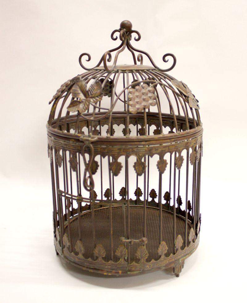 старинная клетка для птиц 50 на 32 см, старт 1 евро