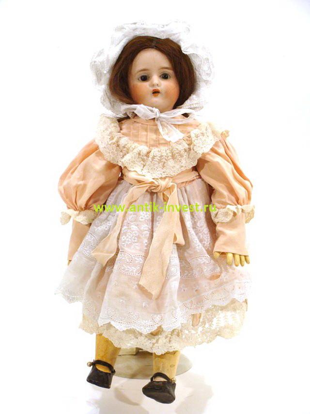 старинная композитная французская кукла фарфоровая Lanternier&Cie 41 см
