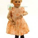 старинная кукла из франции Unis France голова фарфор корпус артикуляционный композит 41 см