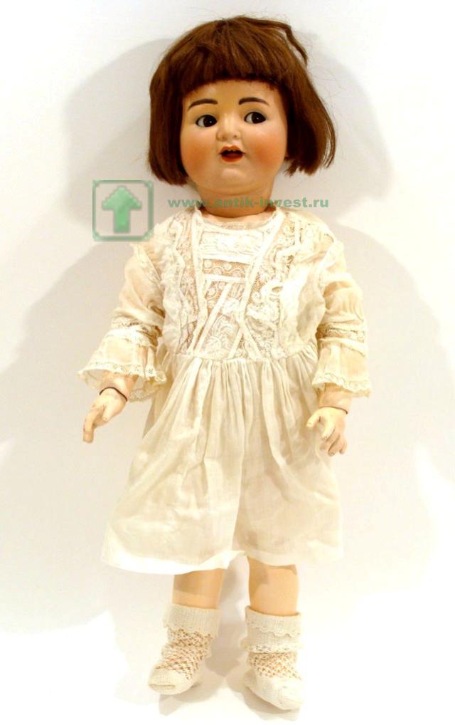 старинная кукла Simon Halbig с флиртующими глазами голова фарфор корпус артикуляционный из композита 60 см