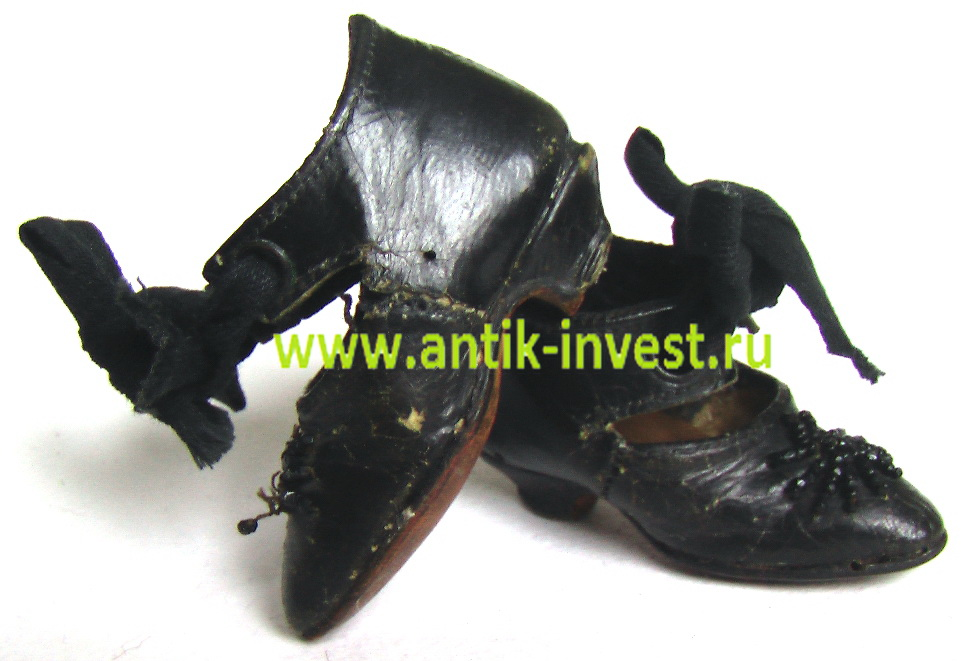 старинная кукольная обувь туфельки туфли для куклы.