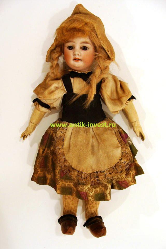 doll старинная немецкая кукла папье-маше фарфоровая Armand Marseille 29см
