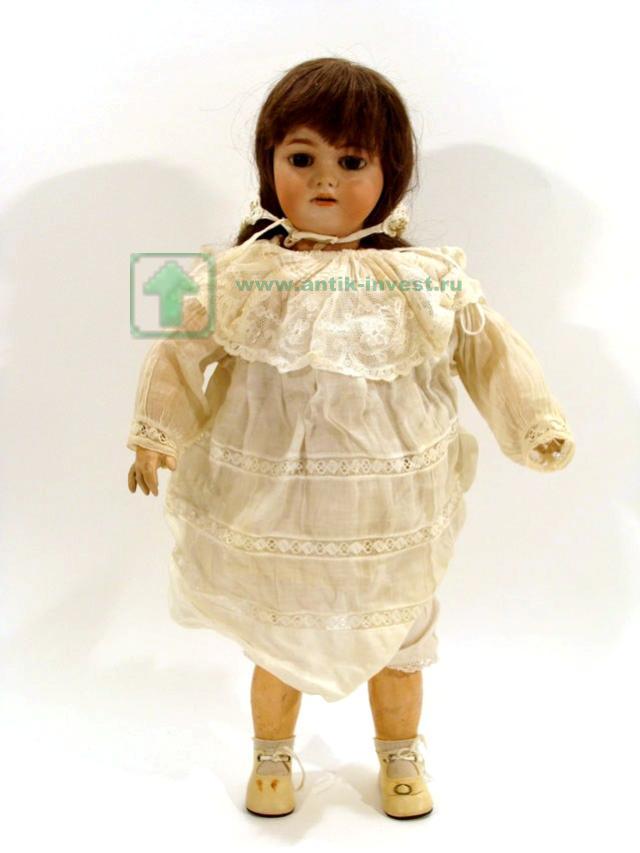 купить антикварную куклу doll старинная немецкая кукла Simon Halbig голова фарфоровая корпус на шарнирах замена волос 70 см