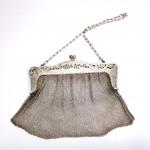 старинная серябряная сумочка кольчуга на цепочке