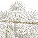старинная бесплатная схема вязания крючком скатерти