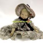старинная фетровая кукла типа Ленчи Lenci 51 см