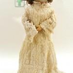 старинная французская кукла голова из фарфора тело композиционное руки двигаются 67 см