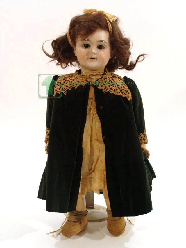 doll купить куклу старинная французская кукла Lanternier голова фарфор корпус композит рот открыт глаза спящие 48 см
