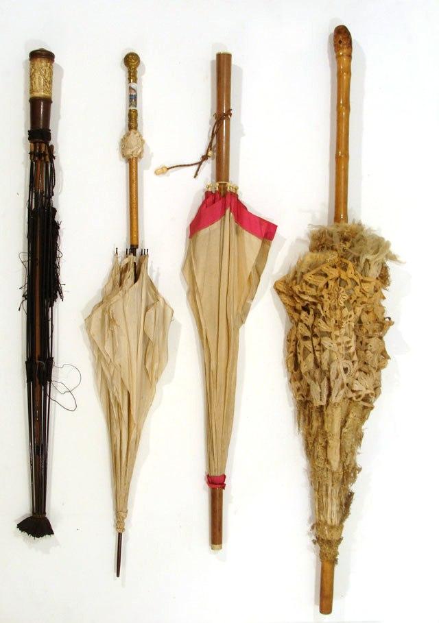 старинные зонты ручки дерево кость бронза старые вещи