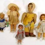 старинные испанские куклы из композита ткани и картон пропитка 53 см