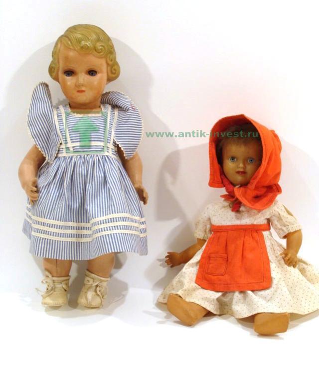 старинные испанские целулоидные куклы марка JCSA тело артикуляционное 35 см