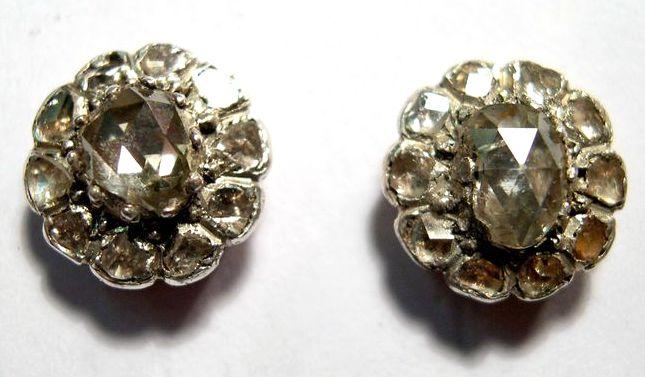 старинные серьги с бриллиантами 19 век интернет аукцион антиквариата