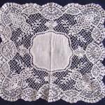 старинный кружевной носовой платок