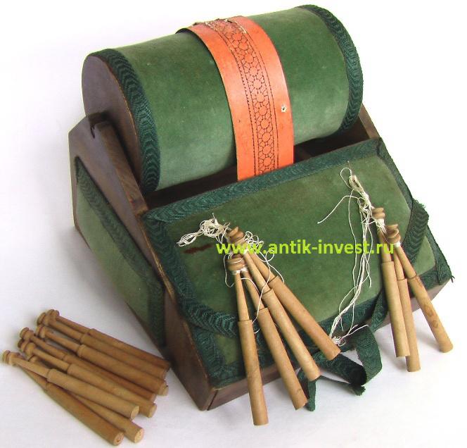 старинный станок подушка для плетения кружева на коклюшках и коклюшки продажа антиквариата
