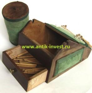 старинный станок подушка для плетения кружева на коклюшках и коклюшки