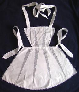 старинный фартук горничной Арт-Деко старинная одежда выкройки схемы