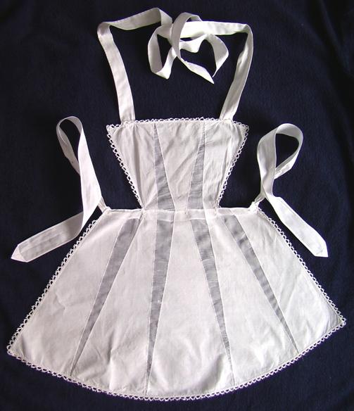 ...старинная одежда выкройки схемы. старинный фартук горничной Арт-Деко.