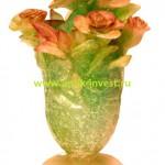 стеклянная ваза DAUM цветы высота 17 см