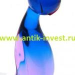 стеклянный кот муранское стекло высота 22 см