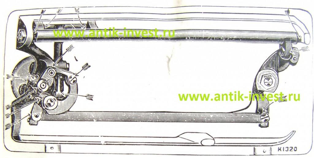 инструкция к швейной машинке Зингер Singer 66 натяжение нити. схема деталей инструкция швейная машинка Зингер Singer.
