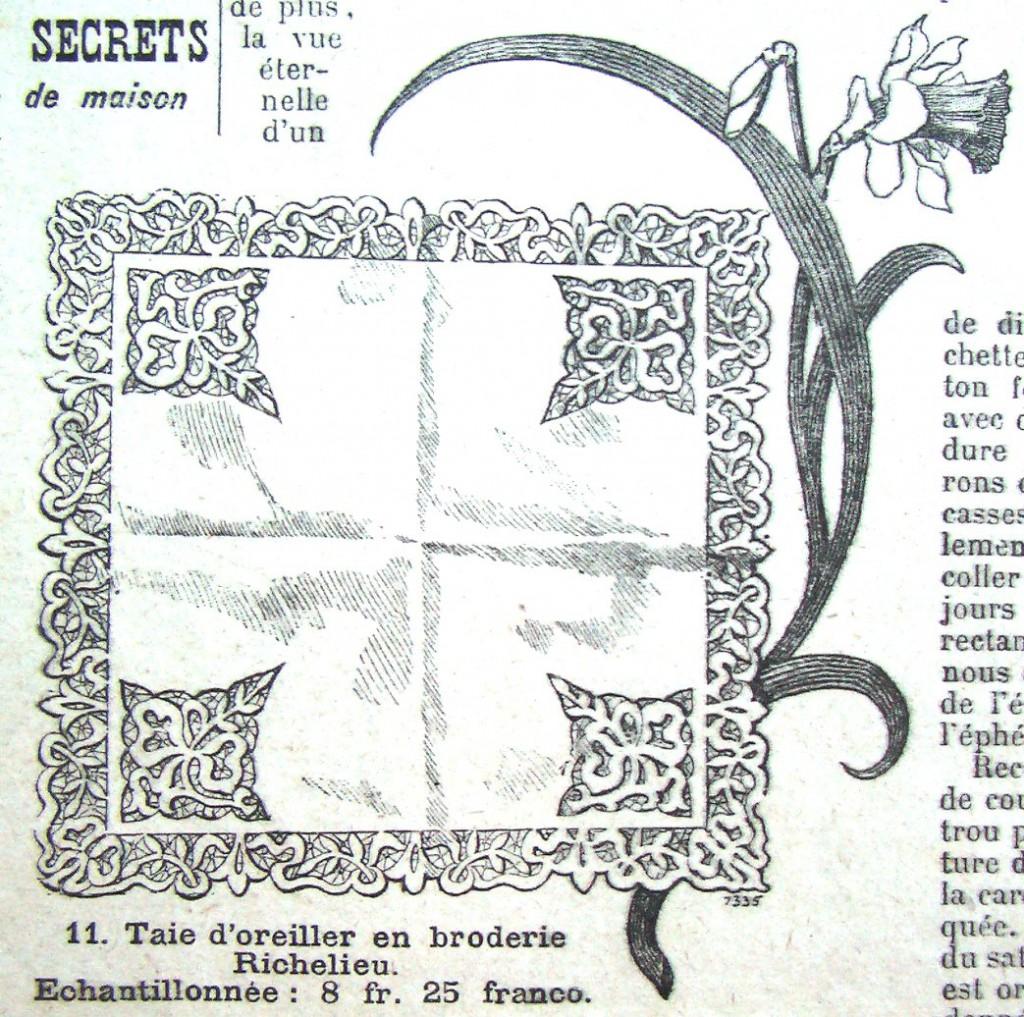 старинная схема вышивки ришелье как вышить рукоделие