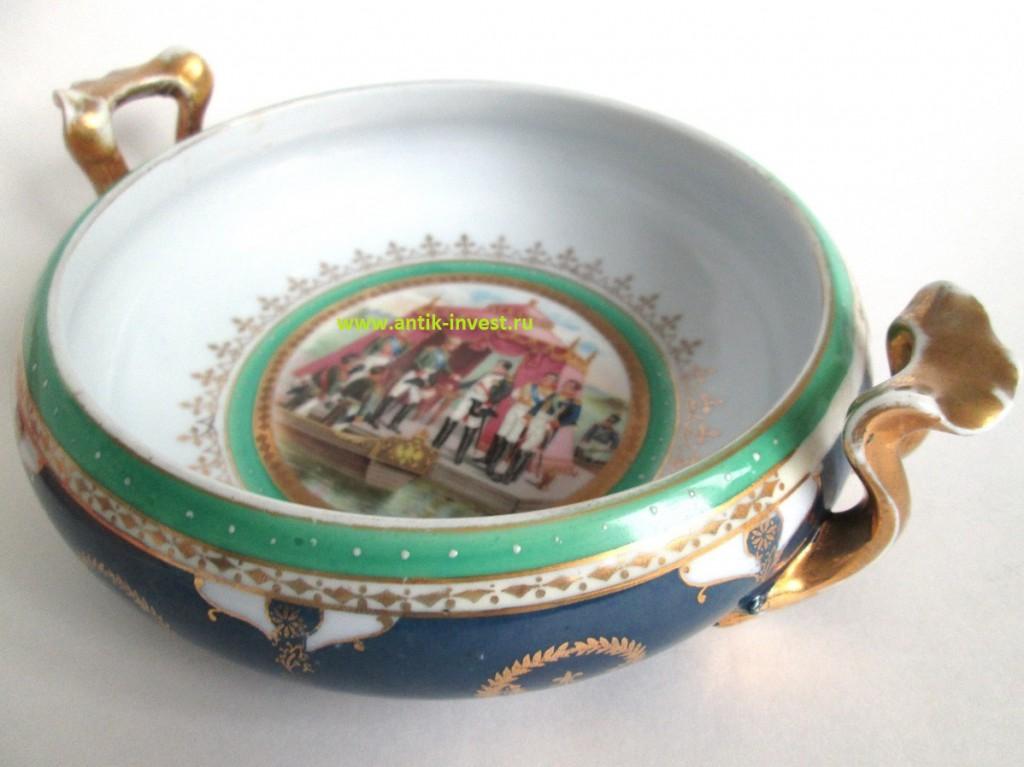 купить редкий старинный антикварный фарфор Частные заводы России XIX век