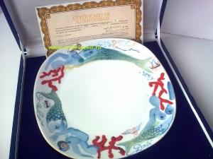 купить фарфоровая коллекционная тарелка Сальвадор Дали с сертификатом
