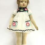 фетровая винтажная кукла ленчи Lenciолосы мохеровые 54 см