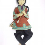 фетровая винтажная кукла ленчи Lenci Ху САН 1924 год волосы мохеровые 54 см