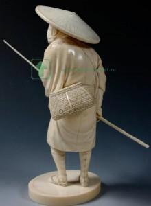 фигурка резьба по кости, Япония эпоха Мейдзи Meiji