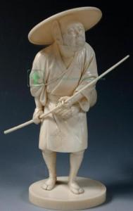 фигурка резьба по кости япония эпоха Мейдзи Meiji