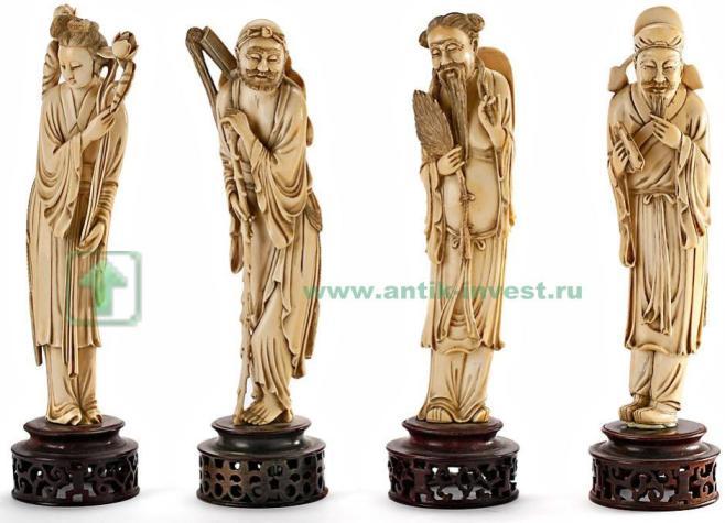 фигурки резьба по кости 24 см 1940 год проданы 114 000 евро интернет аукцион антиквариат купить продать продажа