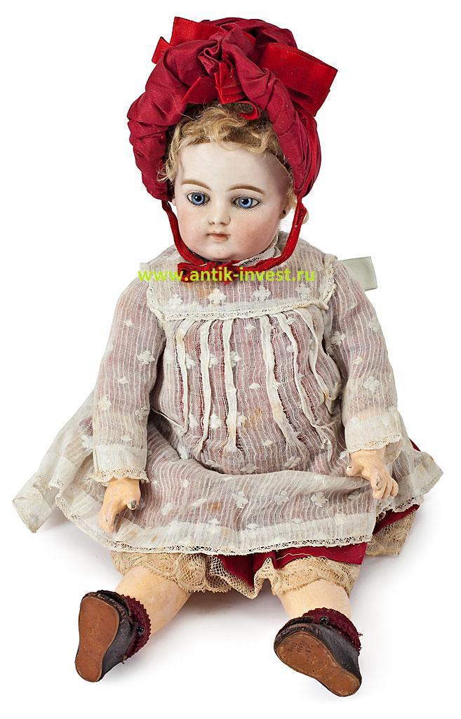 старинная фарфоровая французская кукла Fernand Gaultier клеймо F.6.G.