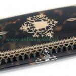 футляр старинный XIX век черепаха отделка инкрустация золотом старт 150 евро