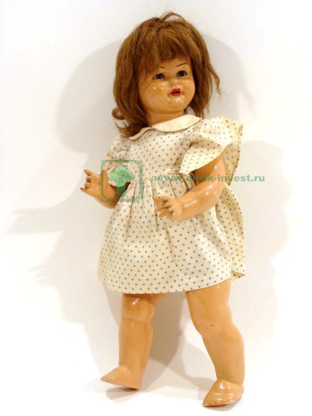 ходящая кукла из композита глаза закрываются волосы и одежда оригинальные 47 см