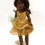 целулоидная кукла негритянка Bibiana артикуляционное тело 50 см