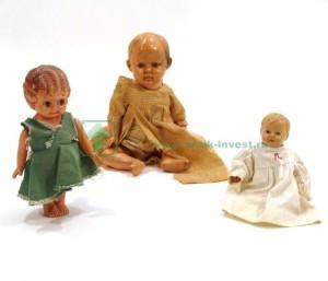 целлулоидные немецкие старые куклы 2шт черепаха Schildkröt 1 японская Googlie 28 см