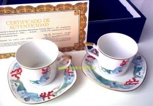 купить фарфоровая коллекционная чашка блюдце Сальвадор Дали с сертификатом