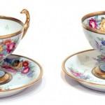 чайные пары лимож Limoges 13 на 13 см живопись