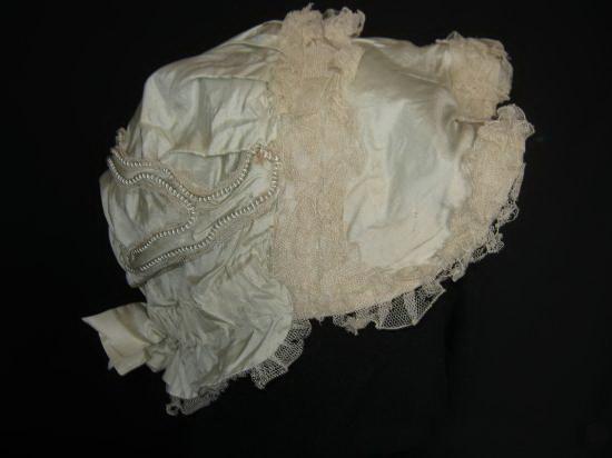 шелковая шляпка шляпа шелк шляпка кружева XIX в
