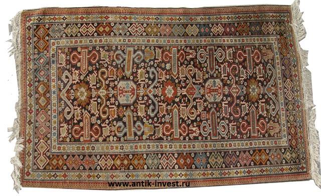 интернет аукцион антиквариата шерстяной ковер ручной работы 195x120 см
