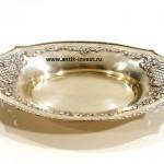 интернет аукцион антиквариата шикарное серебряное блюдо вес 298 грамм 33 на 20 см
