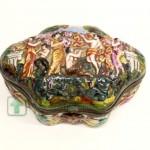 шкатулка для ювелирных украшений CAPODIMONTE 10х20х11 старт 100 евро