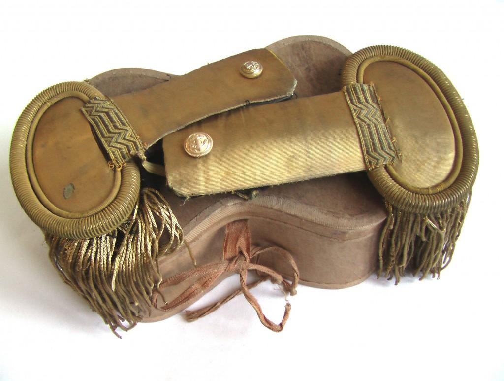 ЭПОЛЕТЫ морского офицера Франция 19 век в коробке