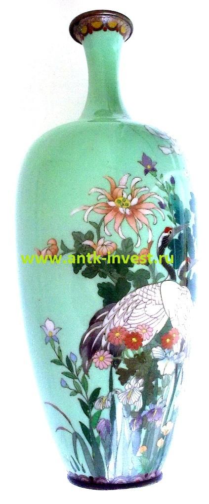 японская ваза клуазоне cloisonne vase meiji Hayashi Kodenji 1868 - 1912